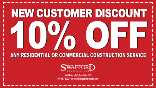New Customer Discount at Swafford Construction